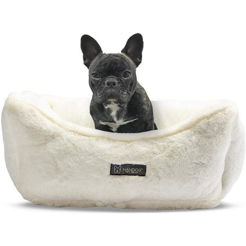 Nandog Cloud Reversible Bed - Ivory - Furevables Pet Boutique