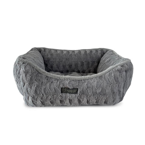 Nandog Cloud Reversible Bed - Shaggy Light Grey - Furevables Pet Boutique