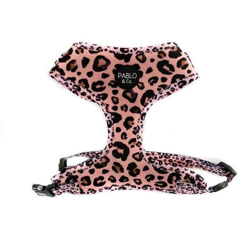 Furevables Pet Boutique - Pink Leopard Harness Pablo & Co