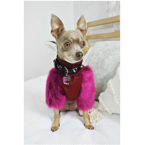 Plum Faux Fur Jumpers - Furevables Pet Boutique