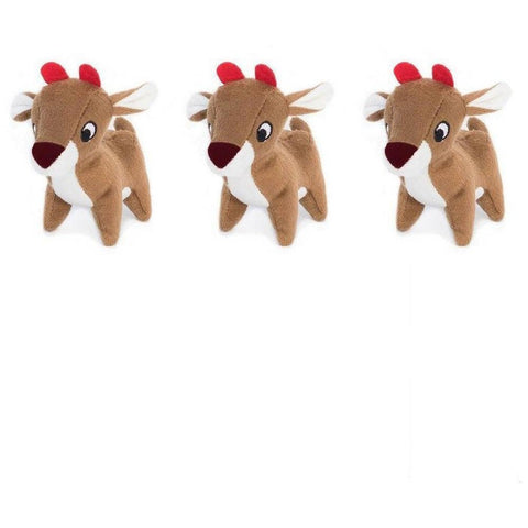 Furevables Pet Boutique - Zippy Paws Miniz - Reindeer