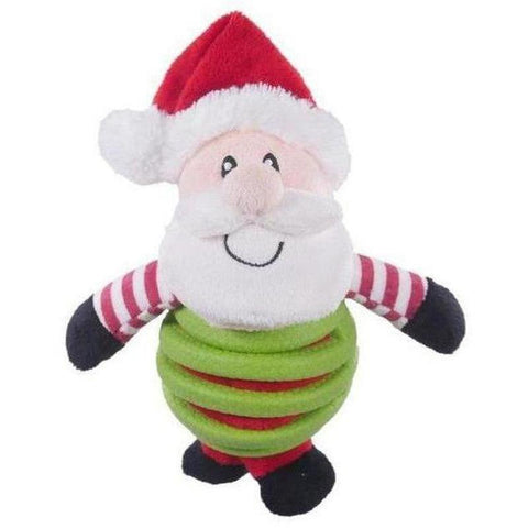 Rubbe Belly Santa Plush Toy - Furevables Pet Boutique