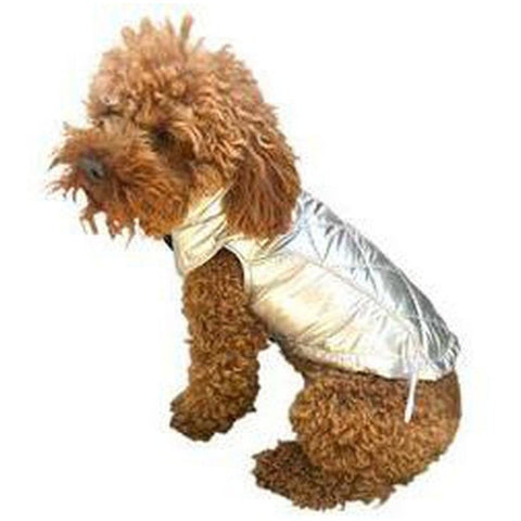 Gallactica Metallic Puffer Coat - Furevables Pet Boutique