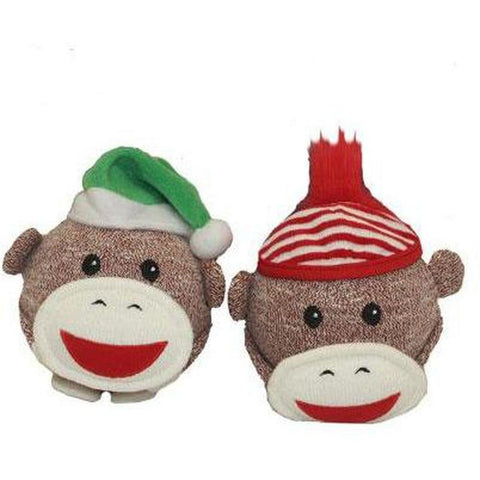 Sock Monkey Shaker Head - Furevables Pet Boutique