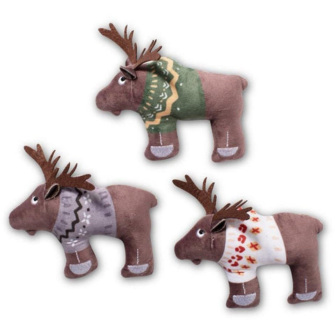 Sweater Moose Plush Dog Toy 3-Pack - Furevables Pet Boutique