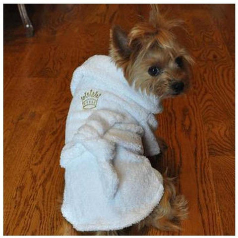 Luxury Bathrobes - Crown - Furevables Pet Boutique