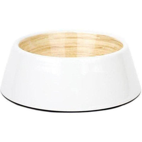 White Bamboo Dog Bowls - Furevables Pet Boutique