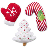 Christmas Icons Plush Dog Toy 3-Pack - Furevables Pet Boutique