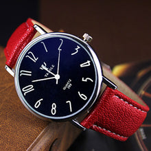 Yazole Quartz Classic Business Leather Strap Watch