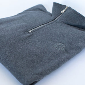 A Quarter Zip Sweater with the ETFO logo