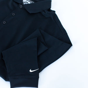 A Men's Nike Stretch Long Sleeve Shirt with the ETFO logo