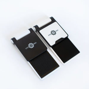 A cell phone holder with the ETFO logo