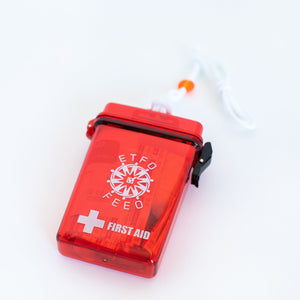 A Waterproof First Aid Kit with the ETFO logo