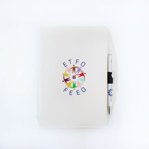 Bradford Journal with Pen (White) with the ETFO logo