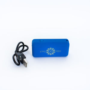 Three Portable Battery Chargers with the ETFO logo