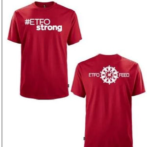 #ETFOStrong Red T-Shirt