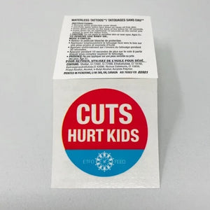 Cuts Hurt Kids - Waterless Tattoos