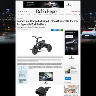 Robb Report showcases the Bentley Trike