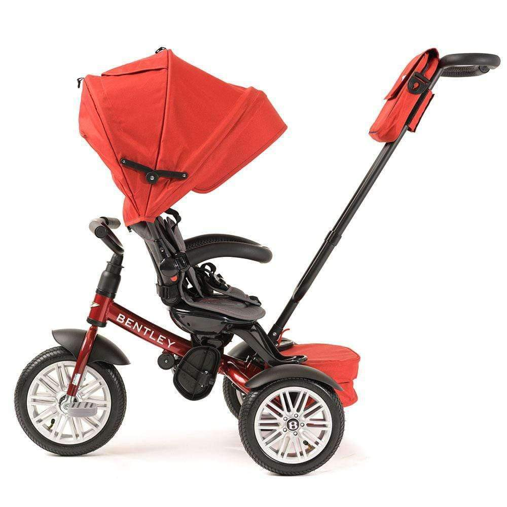 DRAGON RED BENTLEY 6 IN 1 STROLLER TRIKE - Luxury Bentley Kids Trike