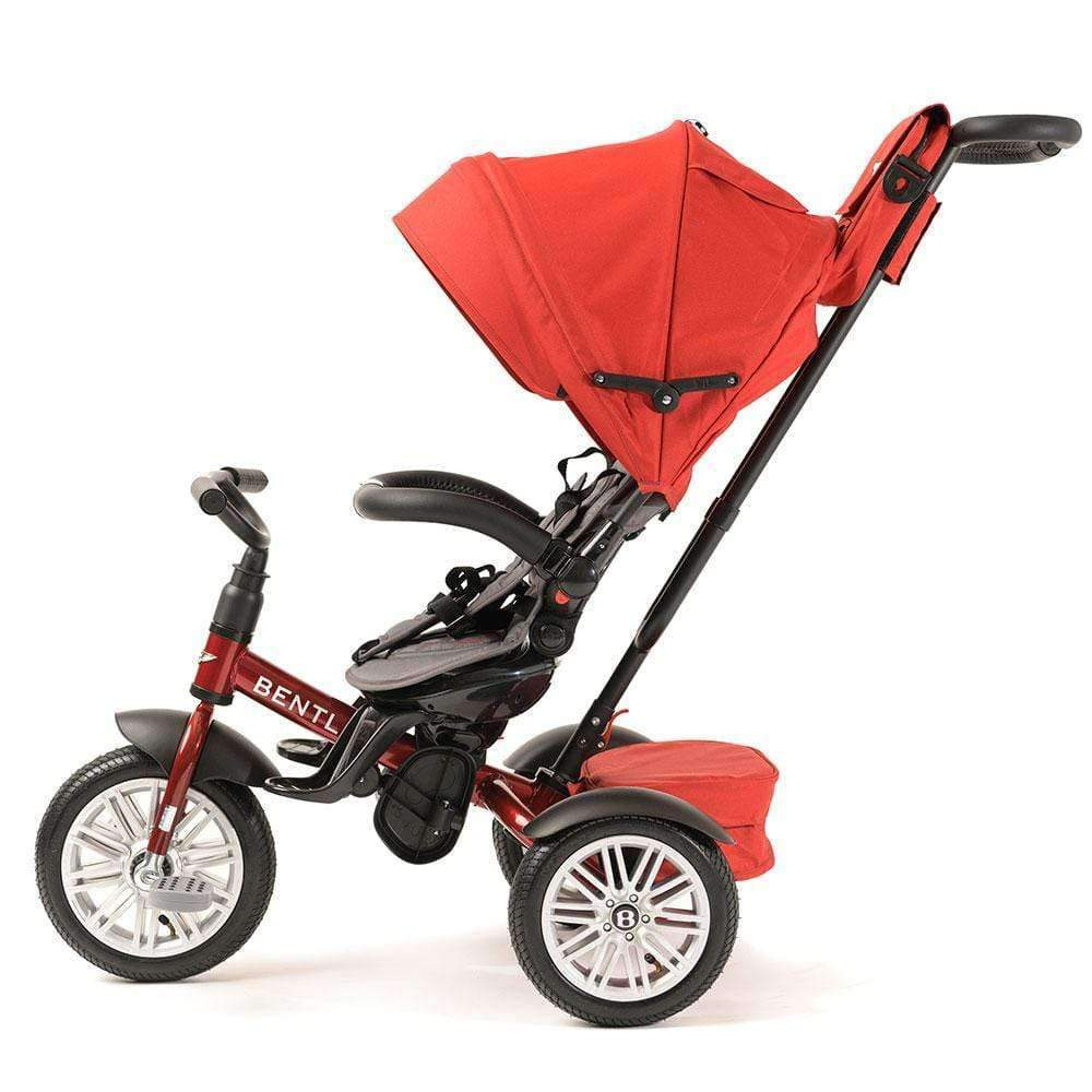 DRAGON RED BENTLEY 6 IN 1 STROLLER TRIKE - Luxury Bentley Trike with push handle