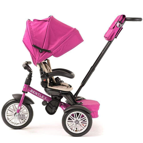 FUCHSIA PINK BENTLEY 6 IN 1 STROLLER TRIKE - Luxury Bentley Kids Trike