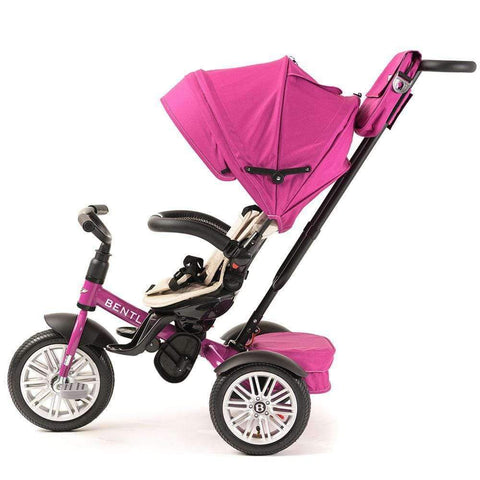 FUCHSIA PINK BENTLEY 6 IN 1 STROLLER TRIKE - Luxury Bentley Trikes