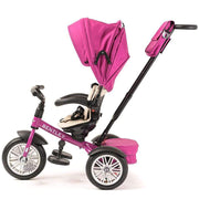 FUCHSIA PINK BENTLEY 6 IN 1 STROLLER TRIKE - Luxury Bentley Trike with push handle