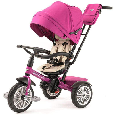 FUCHSIA PINK BENTLEY 6 IN 1 STROLLER TRIKE - Luxury Bentley Trike