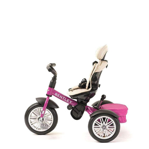 FUCHSIA PINK BENTLEY 6 IN 1 STROLLER TRIKE - Luxury Kids Trike