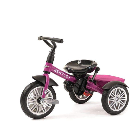 FUCHSIA PINK BENTLEY 6 IN 1 STROLLER TRIKE - Luxury Bentley Tricycle