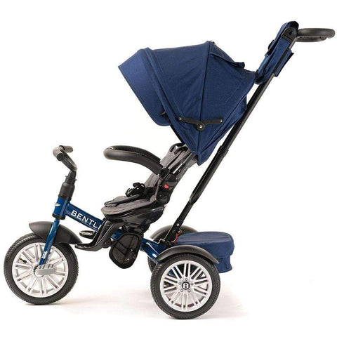 SEQUIN BLUE BENTLEY 6 IN 1 STROLLER TRIKE - Smart Bentley Stroller Trike