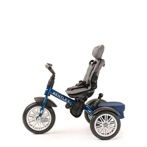 SEQUIN BLUE BENTLEY 6 IN 1 STROLLER TRIKE - Luxury Bentley Kids Trike
