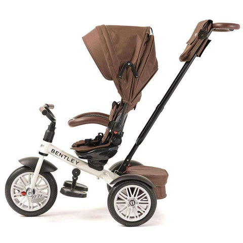 WHITE SATIN BENTLEY 6 IN 1 STROLLER TRIKE - Bentley Trike with Push Handle