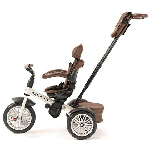 WHITE SATIN BENTLEY 6 IN 1 STROLLER TRIKE - Smart Bentley Trike with Push Handle