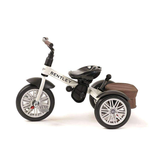 WHITE SATIN BENTLEY 6 IN 1 KIDS TRIKE - Luxury Bentley Trike with Push Handle