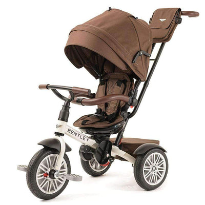 WHITE SATIN BENTLEY 6 IN 1 STROLLER TRIKE - Luxury Bentley Trike