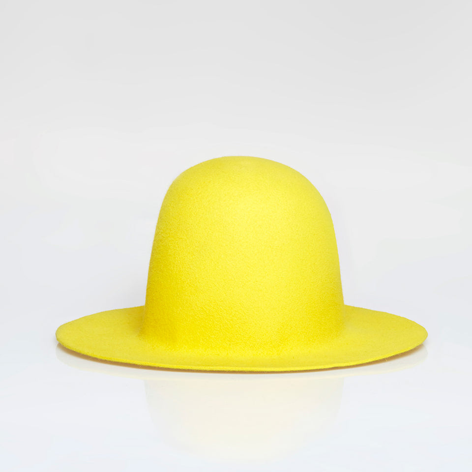 Yellow hat.