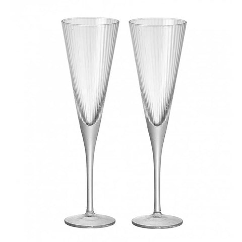 Set of 2 Champagne Flutes
