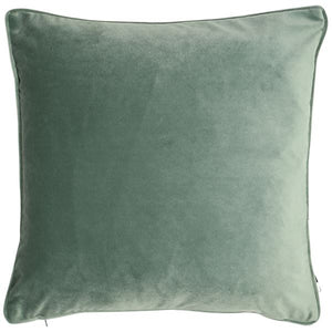 Velvet Cushion - Eucalyptus Green
