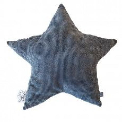 Corduroy Grey Star Cushion