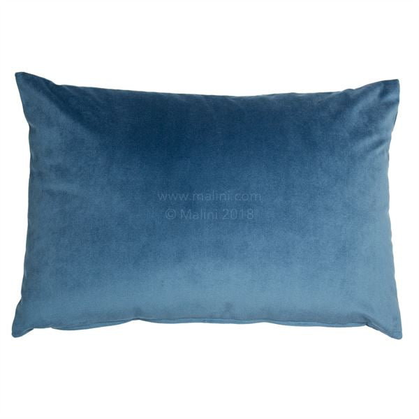 Velvet Cushion - Blue