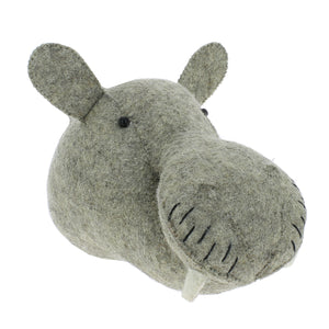 Mini Decorative Animal Head - Hippo