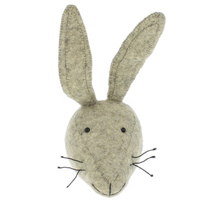 Mini Decorative Animal Head - Rabbit Grey