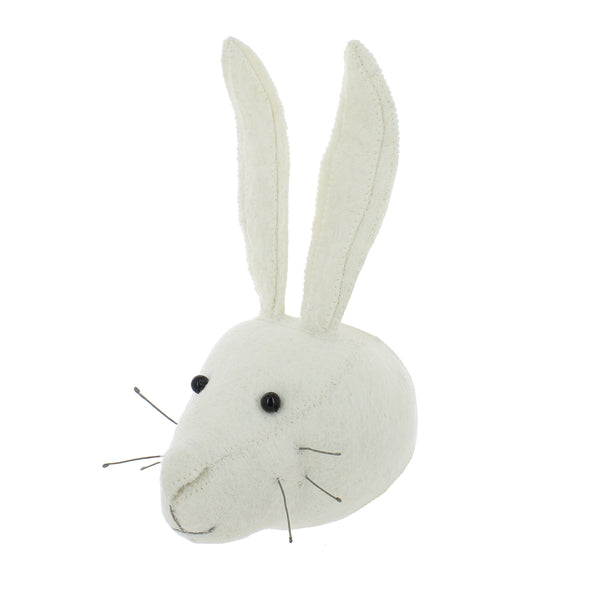 Mini Decorative Animal Head - Rabbit Cream