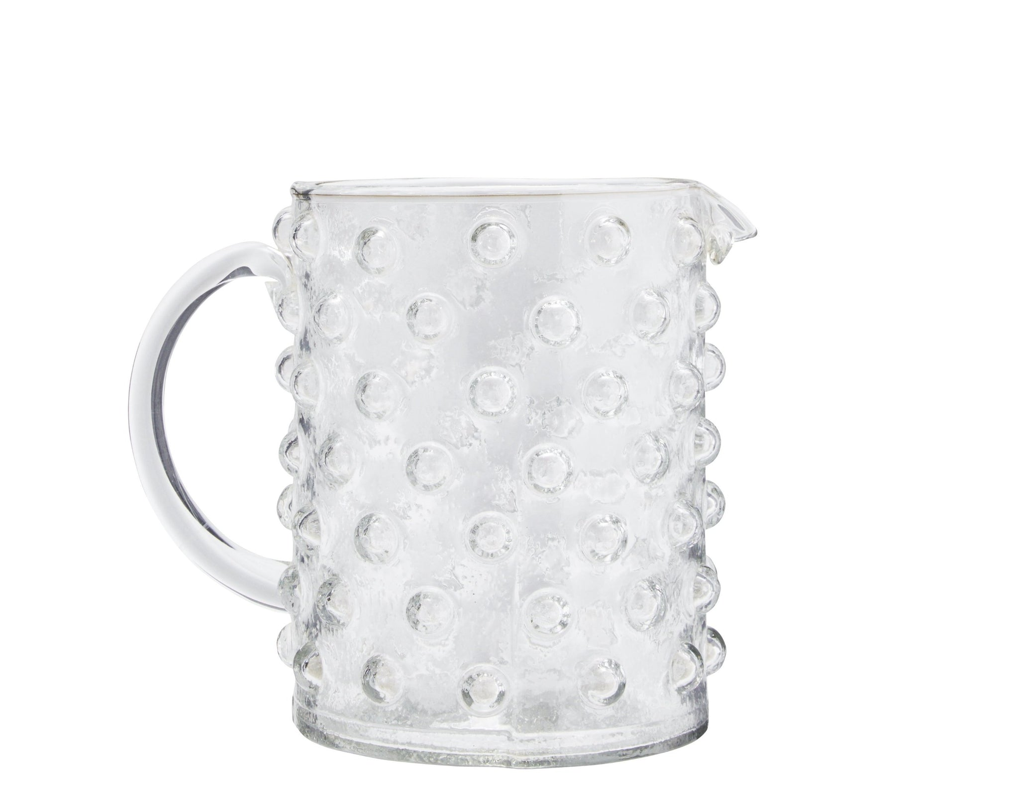 Large Clear Glass Dotty Jug