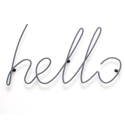Hello Wall Rack / Hanger - Grey