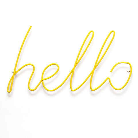 Hello Wall Rack / Hanger - Yellow
