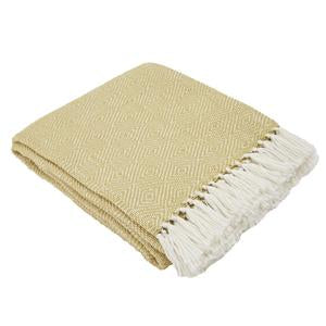 Weaver Green Diamond Blanket Throw Gooseberry