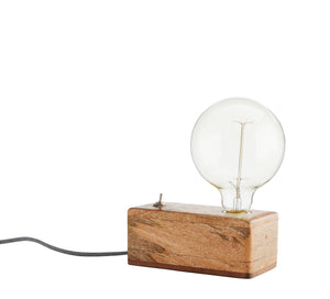 Wooden Box Table Lamp