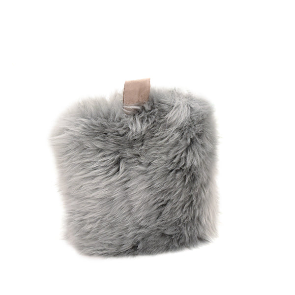 British Sheepskin Doorstop - Silver